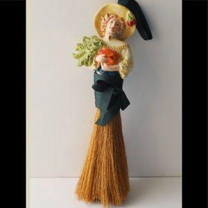 Vintage Garden lady whisk broom/crumb sweeper